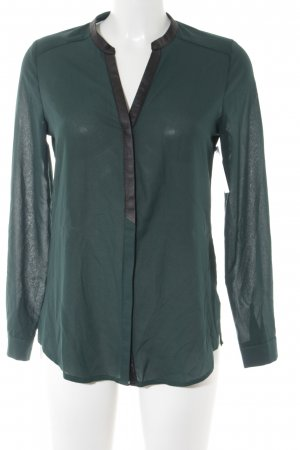 Kiomi Langarm-Bluse dunkelgrün Business-Look