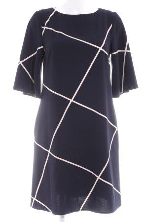 Kiomi Langarmkleid creme-dunkelblau Streifenmuster Business-Look