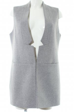 Kiomi Long Knitted Vest light grey extravagant style