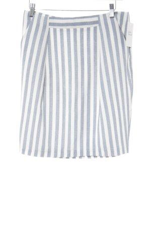 Kiomi Minirock weiß-stahlblau Streifenmuster Street-Fashion-Look