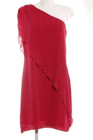 Kiomi One-Shoulder-Kleid magenta Stofflagen-Detail