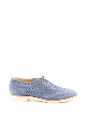 Kiomi Zapatos estilo Oxford azul look casual