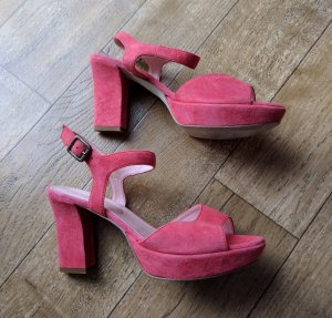 Kiomi Platform High-Heeled Sandal pink leather