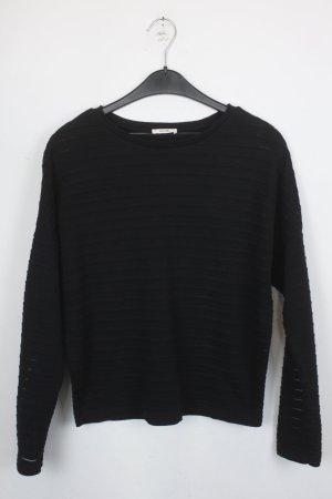 KIOMI Pullover Gr.XS schwarz mit durchscheinenden Streifen (18/4/387)