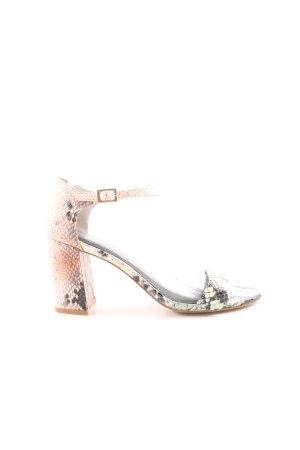Kiomi Riemchen-Sandaletten Animalmuster Animal-Look
