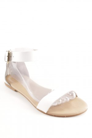 Kiomi Strapped High-Heeled Sandals beige-white casual look