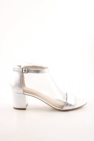 Kiomi Riemchen-Sandaletten silberfarben Business-Look