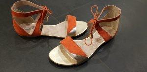 Kiomi Strapped High-Heeled Sandals apricot-salmon