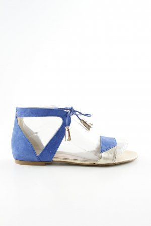 Kiomi Roman Sandals blue-silver-colored casual look