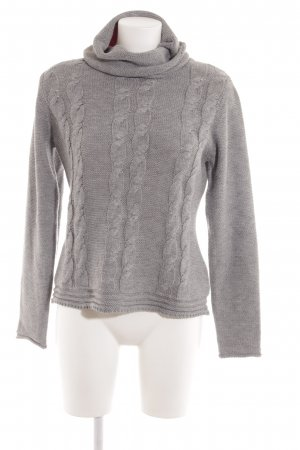 Kiomi Turtleneck Sweater grey cable stitch casual look