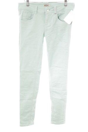 Kiomi Skinny Jeans blassgrün schlichter Stil