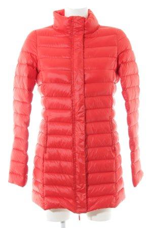 Kiomi Manteau matelassé rouge motif de courtepointe style décontracté