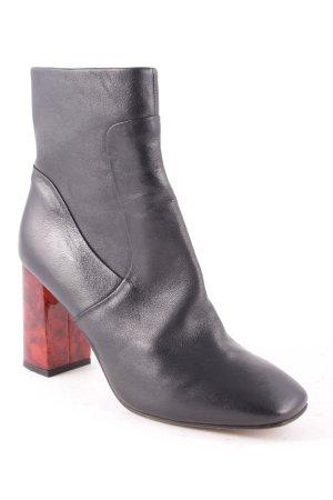 Kiomi Stiefeletten schwarz-braunrot klassischer Stil