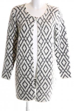 Kiomi Knitted Coat white-black graphic pattern casual look