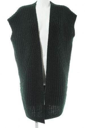 Kiomi Chaleco de punto verde bosque modelo de punto flojo estilo sencillo