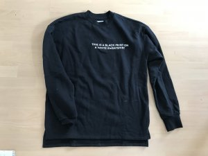 Kiomi Sweater Sweat Sweatshirt Pulli schwarz weiß M