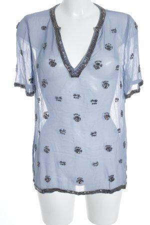 Kiomi Transparenz-Bluse himmelblau Casual-Look
