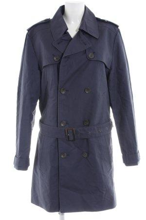 Kiomi Trenchcoat blau Business-Look