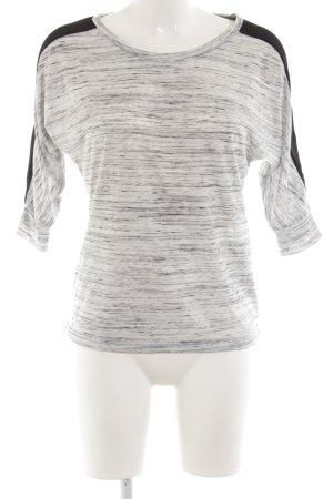 Kiomi Boatneck Shirt light grey-black flecked casual look