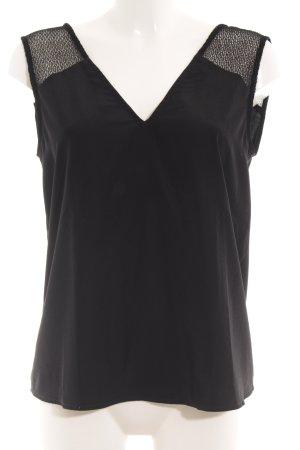 Kiomi V-Ausschnitt-Shirt schwarz