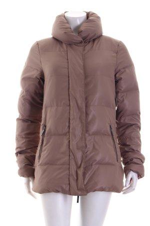 Kiomi Giacca invernale marrone chiaro motivo trapuntato stile casual