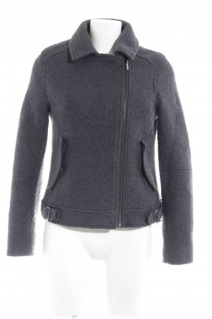 Kiomi Wool Jacket dark grey casual look