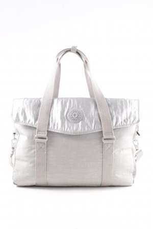 Kipling Collegetasche hellgrau-silberfarben Business-Look