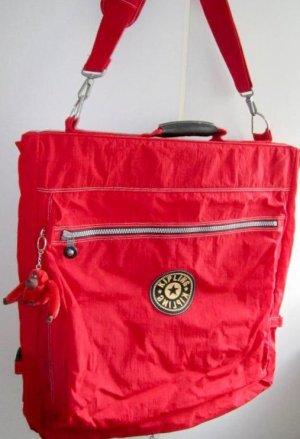 Kipling Farbe Hummerrot Neu mit Äffchen, großer Kleidersack, Reisetasche, Wochenendtasche