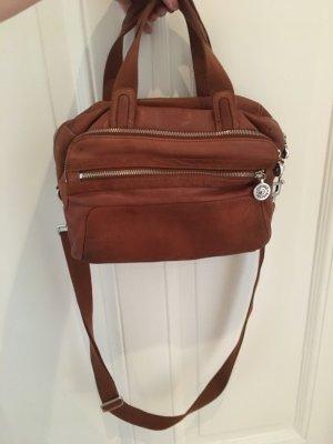 Kipling Satchel cognac-coloured-brown leather