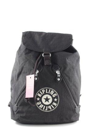 Kipling Schoolrugzak zwart straat-mode uitstraling