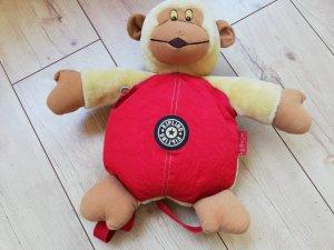 Kipling Teddybär-Rucksack rot-beige