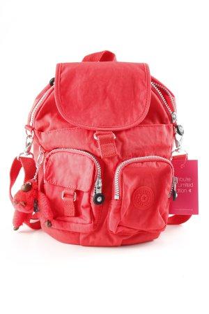 Kipling Trekking Backpack red batik pattern safari look