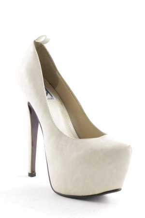 Kiss Kouture Plateau-Pumps creme-hellbeige