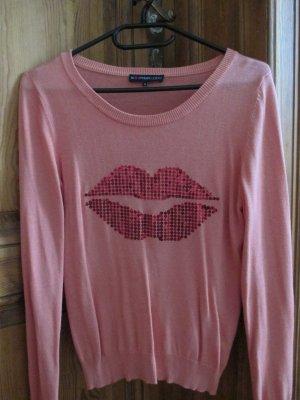 Kiss me - Motivpullover in Apricot