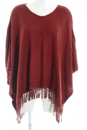 kiss THE SKY Poncho karminrot Casual-Look