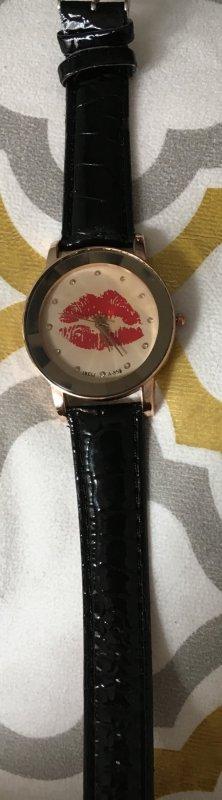 Kiss Uhr neu schwarz