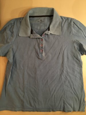 KITARO Poloshirt, hellblau, used look, Gr. XL, wie NEU