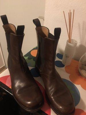 Kiton Chelsea Boots in Schokobraun Gr. D 40