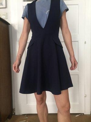 Zara Woman Abito linea A blu scuro
