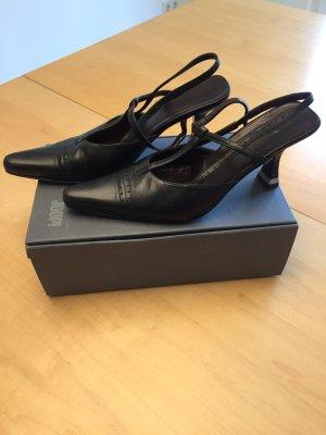 Kitten heels schwarz 38,5 Joop slingbacks Pumps Trend!