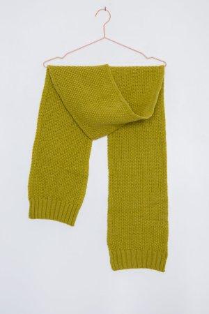 Kiwigrüner Schal mit Waffel-Muster