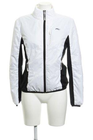 Kjus Sportjacke weiß-schwarz Colourblocking sportlicher Stil