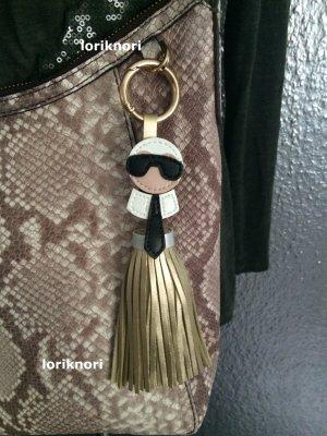 kKarlito Taschenanhänger Anhänger Schlüsselanhänger große Quaste gold