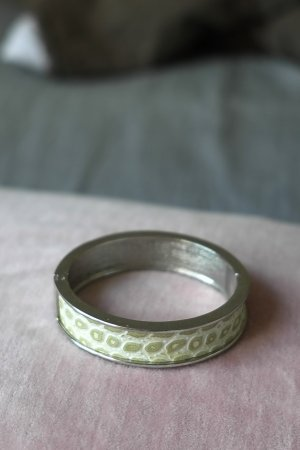 Bangle zilver-wit
