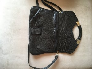 Frame Bag black-gold-colored synthetic material