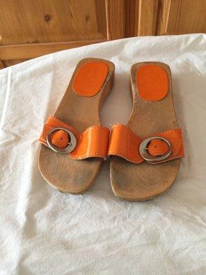 Klapper Latschen in Orange