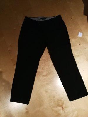 Banana Republic Pantalón tobillero negro tejido mezclado