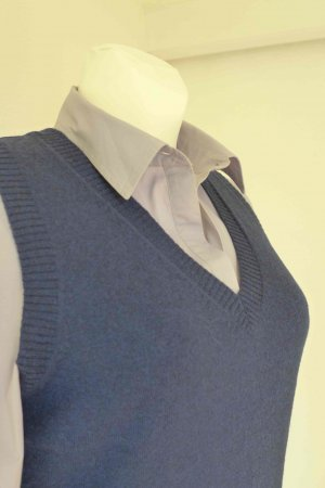 Marco Pecci Knitted Vest dark blue wool