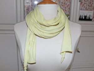 American Apparel Summer Scarf pale yellow cotton