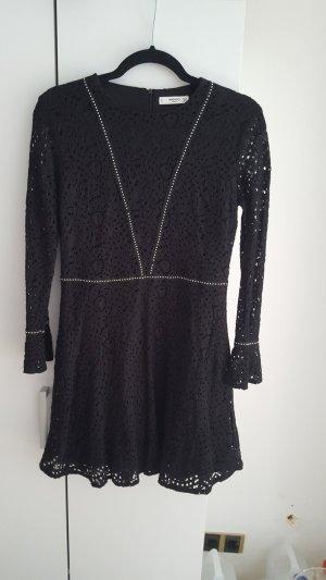 Mango Longsleeve Dress black-silver-colored